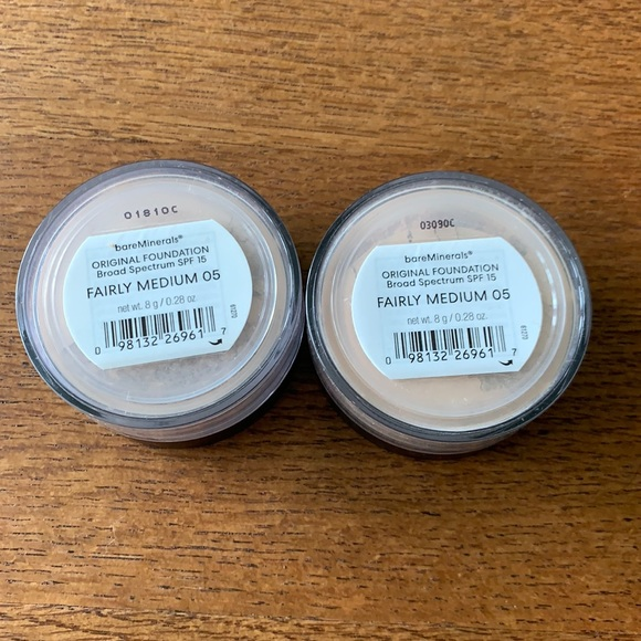 2 NEW Never been open bareMinerals Foundation